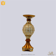 OEM Accept Home Cheap Resin Craft Votive Holders Copper Tall Tea Light Candle Holder for Weddings