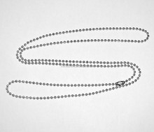 Stainless Steel 30 Inch Ball Chain Necklace For Military Small Dog Tag Chain