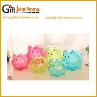 Promotional gift clear saving money piggy bank