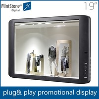 hot sale 19 inch android totem display media advertising lcd monitor
