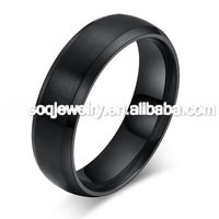 SSR860026 New Arrival black metal jewellery Fashion Black Stainless Steel Men's Ring