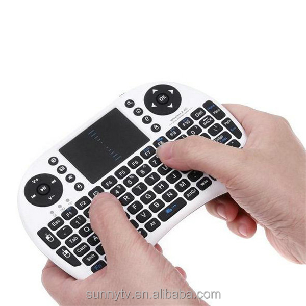 2.4G Mini Rii i8 Wireless Keyboard Remote Controls Air Mouse With Touchpad Keyboards work well on Anroid tv box