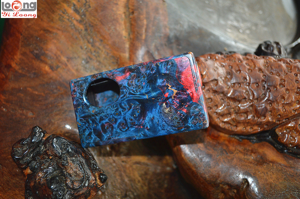 2017 hot new product YILOONG smallest bottom feeder stab wood box mod