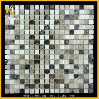 Emperador dark mixed beige Marble Mosaic Tile,flooring tile for bathroom and kitchen wall