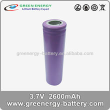 3.7v 18650+batterie+li-ion secondary lithium ICR18650 2600mah