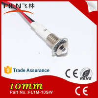 Hot sale 10mm panel mounting led lamp lighting 220v indicator light (factory selling)