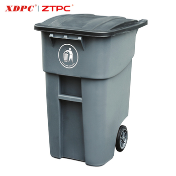 Modern newest design durable large capacity unique outdoor advertising trash can 200L