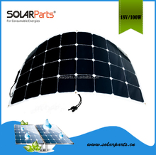 Cheap Sunpower flexible PET laminated solar panel Price China 100W