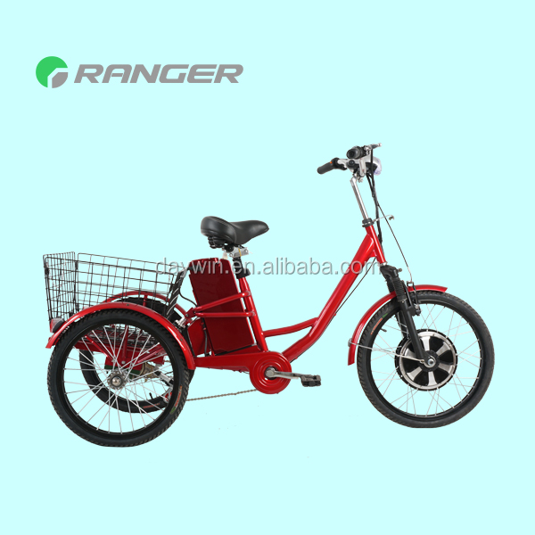 flatbed tricycle with 36V 12Ah lead acid battery