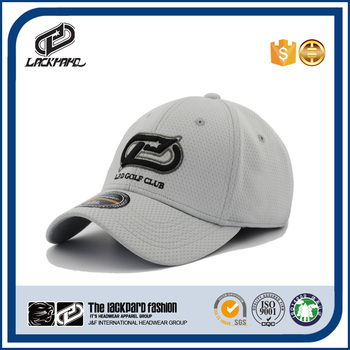 Quick-drying OEM grey sports cap golf cap with eyelet material