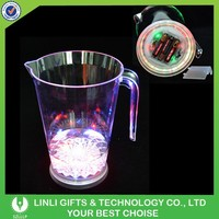 Promotional 1400ML Plastic Light Up Beer Jug With Logo