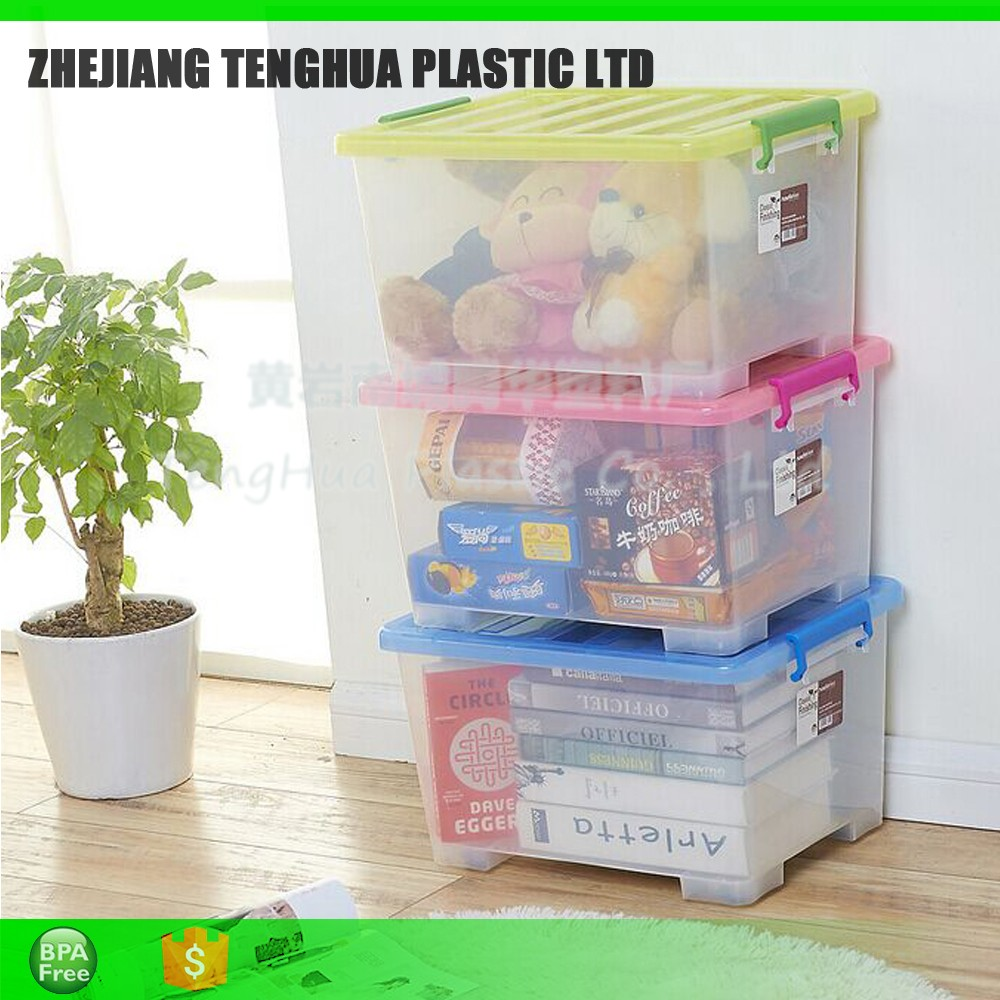 Household Products Toy Storage Box Custom Storage Box Plastic Hard Plastic Storage Box With Lid