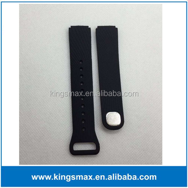 whole seller /manufacuturer / factory hot selling black color silicon material replacment band for huawei talk band B2