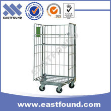 Warehouses Transport Hand Push Wire Steel Folding Cart
