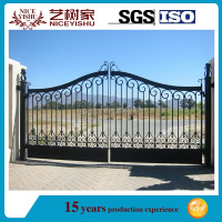 high quality modern simple wrought iron main gate designs/house main gate designs for sale