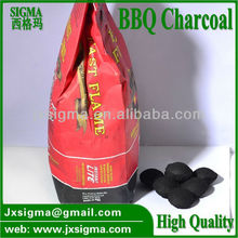 100% coconut shell charcoal made BBQ briquttes