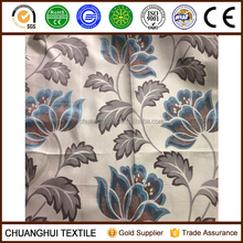 100% polyester big floral jacquard curtain fabric block out the sunlight
