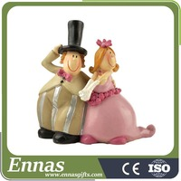 polyresin bride and groom wedding gifts for decoration