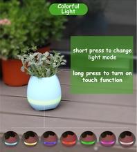 Music Flowerpot Speaker, LED Light Egg Shape Speaker, Smart Music Bluetooth Speaker JD-6476