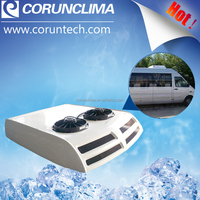 Roof top mounted 12v mini bus air conditioner