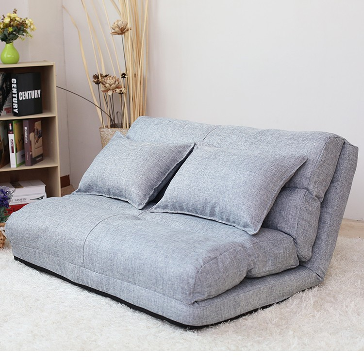 Korean Style Fabric Folded Sponge Floor Sofa With 5
