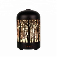 New Forest Metal Ultrasonic 100 ml Home Humidifier Essential Oil Aroma Diffuser with Auto Off