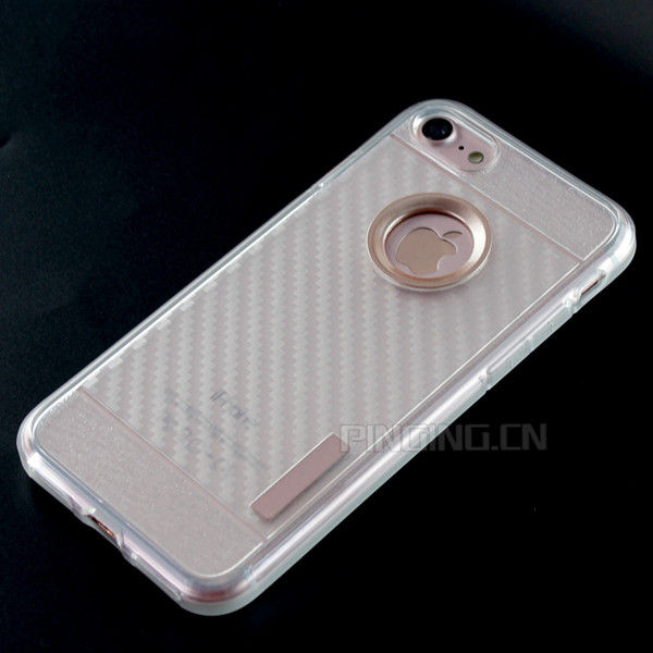 Free Shipping 2MM Transparent Carbon Fiber Cell Phone Case For iPhone 7 Case