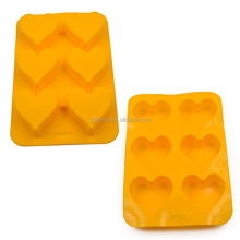 High quality 6 cups heart-shaped silicone bakeware,cookies mold,cake mould