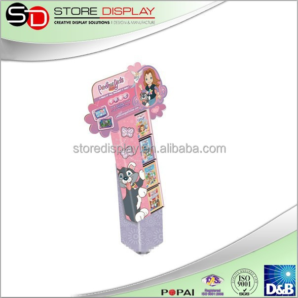rotating jewelry display stand display racks for fabrics advertising