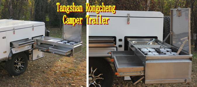 New Forward Fold Camper Trailer RC-CPT-01SD-black color