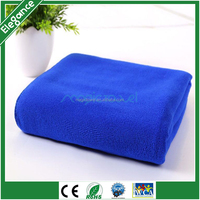 80 polyester 20 nylon velour microfiber gym towel with blue dyed color for Promotion