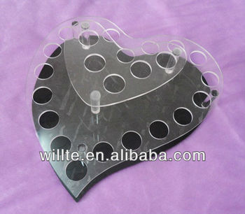 Heart shape lip gloss/lipstick acrylic display