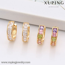 29255-Xuping Jewelry Hot Sale Fashion 18K Gold Plated Hoop Earring