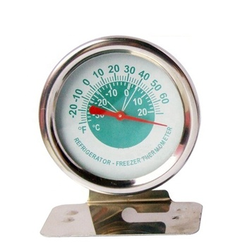 Fridge freezer stainless steel Dial refrigerator thermometer