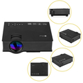 Wireless WIFI Mini Projector UC46 Portable Home Theater 1200Lumens LED Projector With USB VGA HDMI