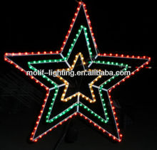 MAX 60CM five-pointed lighted star chrismas decoration