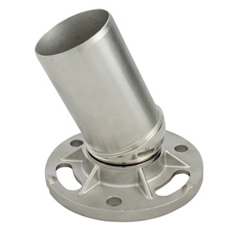 stainless steel adjustable angle flange for stair railing/post/pipe/balustrade