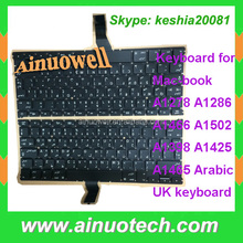 US UK laptop Keyboard for macbook A1425 A1502 A1398 A1465 A1278 A1286 A1466 laptop keyboard Arabic big enter