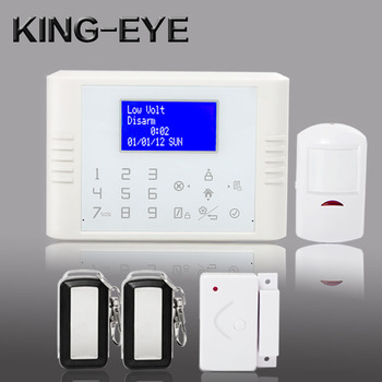 Big LCD displays GSM+PSTN dual network pstn home alarm system with 433.92 mhz remote