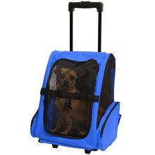 Trolley pet cat dog carrier trolley bag with wheels