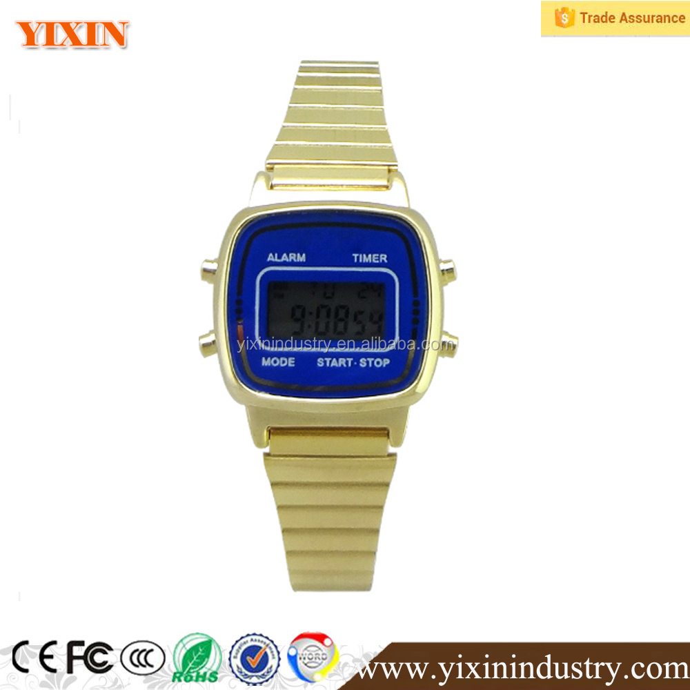2017 customized new fashion alloy fabric digital watch with factoty price