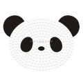 Cute Panda Hot Fix Flock Motif Rhinestone Transfer Designs