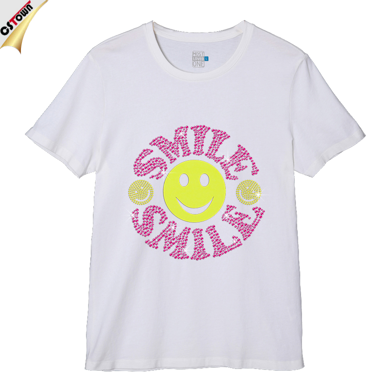 Glitter Smile Face Men's T Shirts Online Shopping