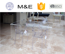 Crystal lucite/Acrylic Dining Table/acrylic table with chair