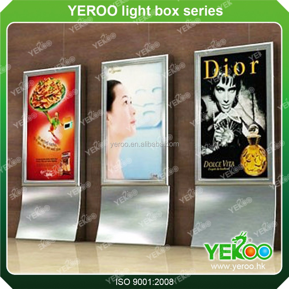 Exported Indoor and Outdoor Square Plaze Two-face Aluminum Alloy Advertising Light Steel Frame Light Box With Scrolling system