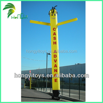 Yellow Inflatable Air Dancer Tube Man With Logo Printing