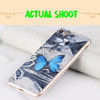 3d unicorn pattern printing PU leather patch soft tpu cell phone case for iphone 5 6 7 7 plus