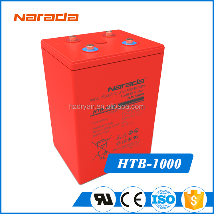 Gps Tracker Connected To Vehicle 2V 1000Ah Industrial Opzv Battery