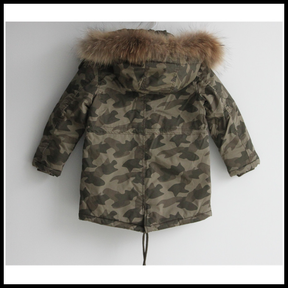 Wholesale children's boutique clothing 2015 winter child coat with real fur
