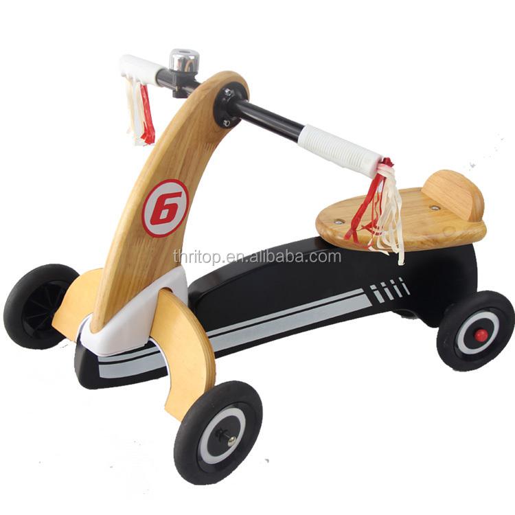 2-em-1 TH0415 Triciclo Do Bebê e Bicicleta para Crianças Treinamento de Equilíbrio De Madeira